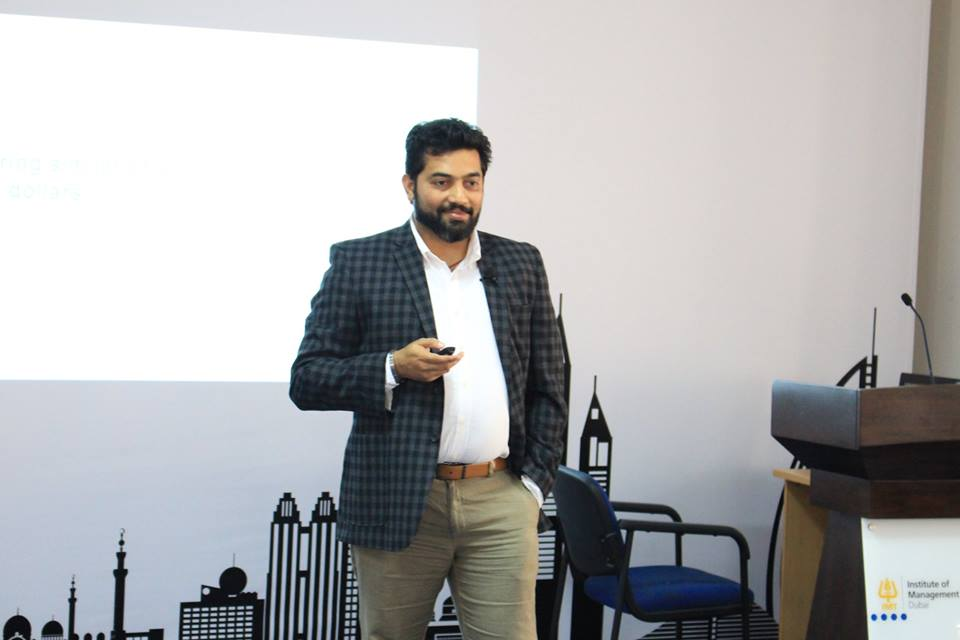 IMT Dubai hosted Mr. Krishna Raj from Godrej & Boyce