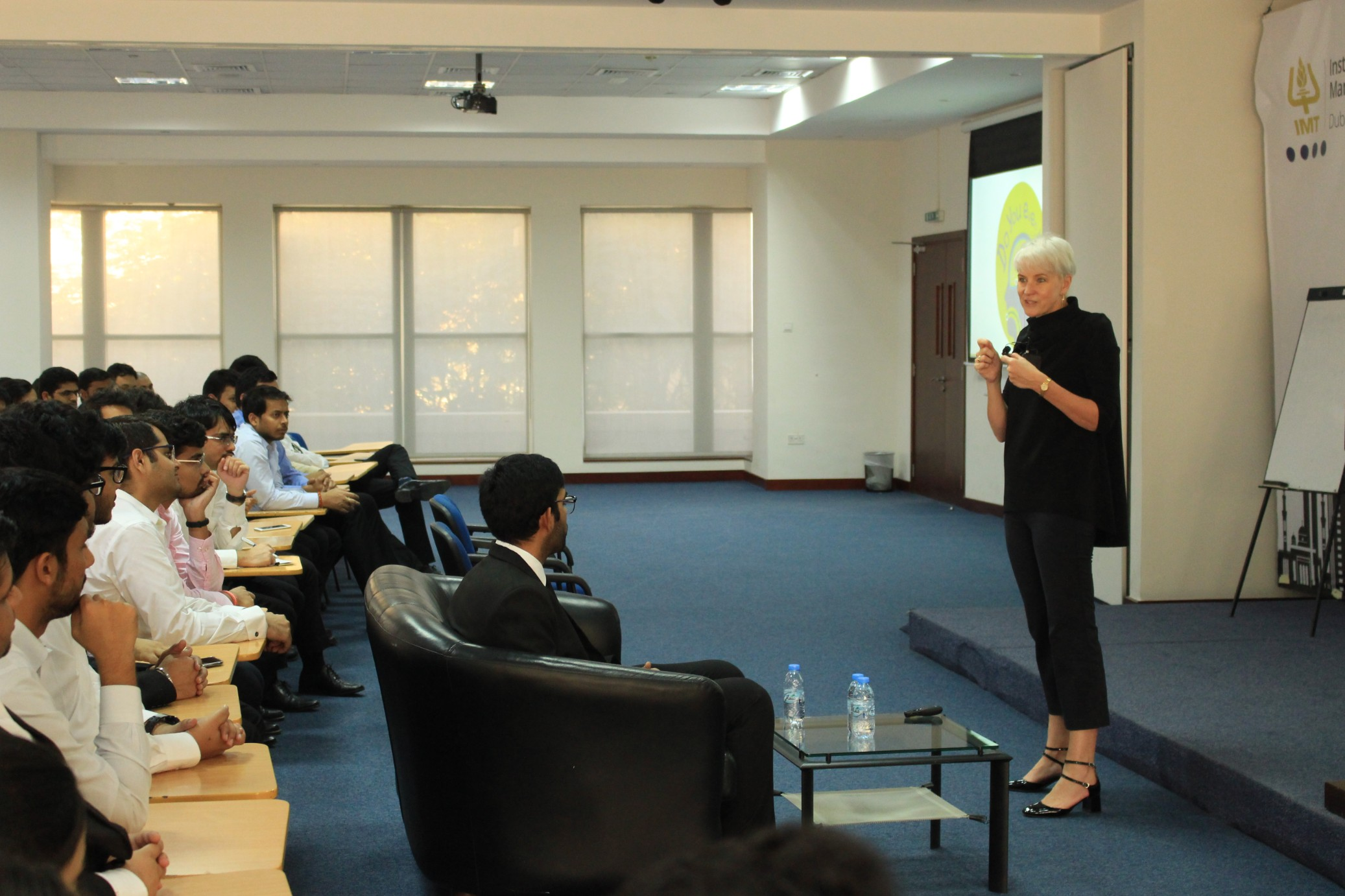 IMT Dubai students hosted Mrs. Marita Harrold