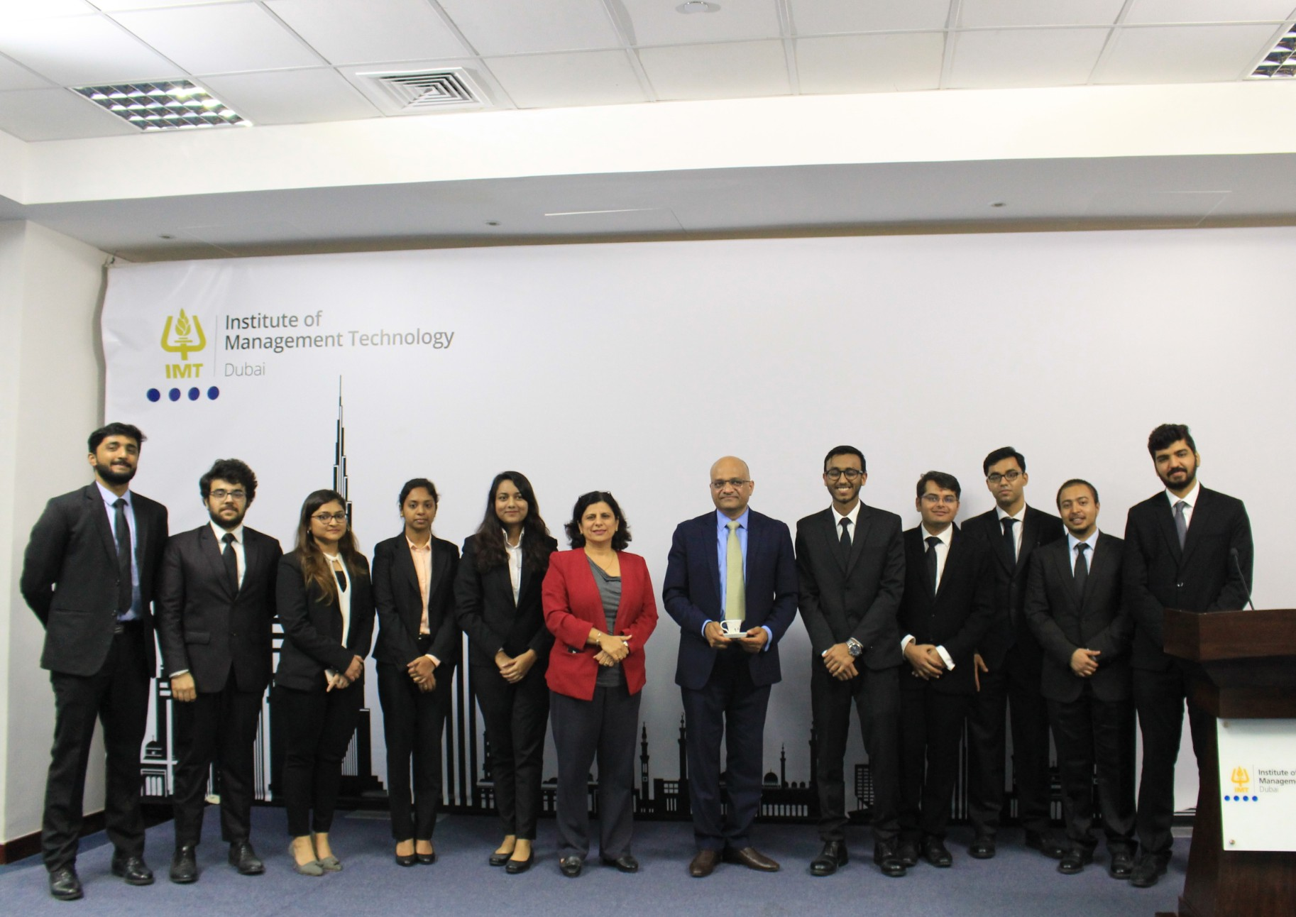 IMT Dubai students hosted Mr. Rajesh Garg - Group CFO, Landmark group for IMTeaTalks session