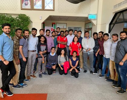 IMTD Students attended Al Ahlia Gulf Line General Trading Pvt. Ltd for an Industrial Tour
