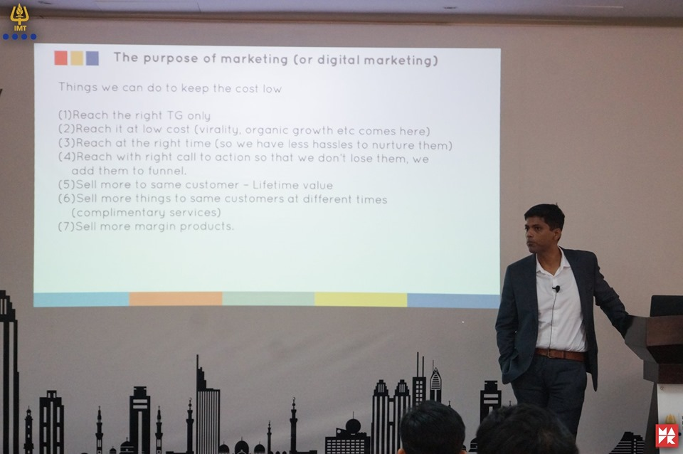 Mr. Lijo Ittoop, Digital Marketing Guru has addressed DCP Students