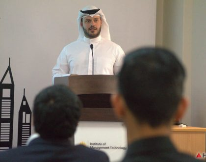 IMT had the pleasure of hosting Mr. Athbi Alenezi, Co-founder and MD of JustClean