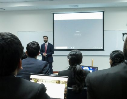 IMT had the pleasure of hosting Mr. Yogesh Khairajani